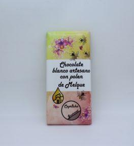 chocolate-blanco-artesano-polen-miel-melque-capricho-gourmet