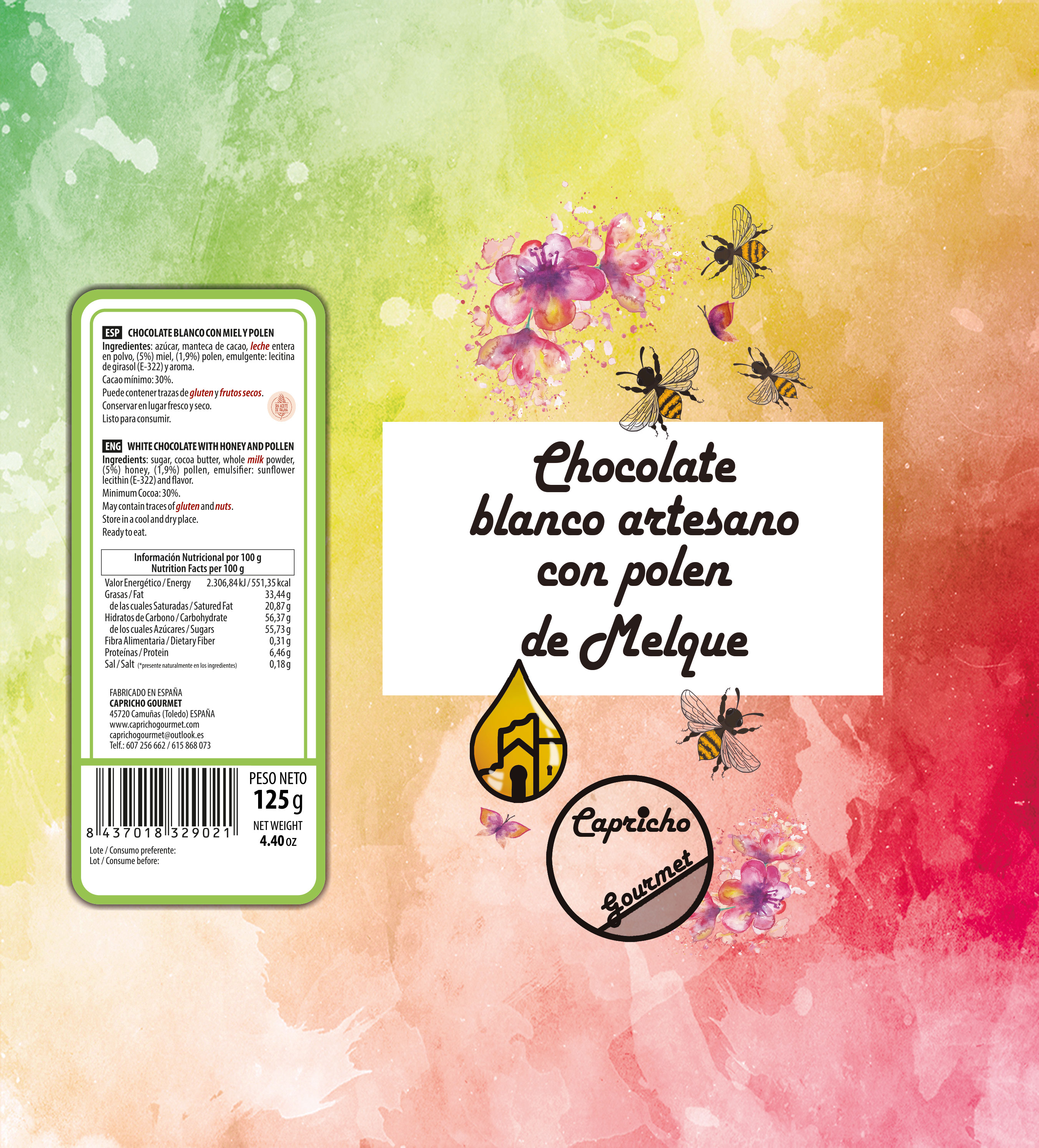 poster frutas del bosque chocolate